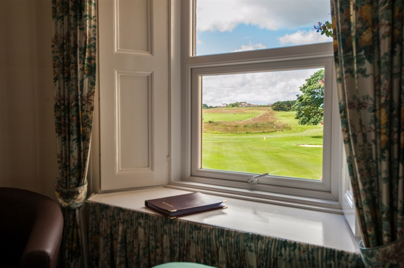 View of the course from a Dormy Room at Foxton Hall